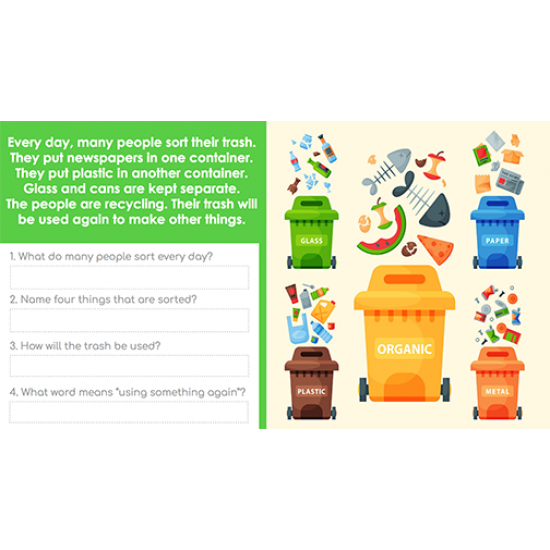 Google Classroom™ Activities: Beginning Reading Passages for Reading Level 1