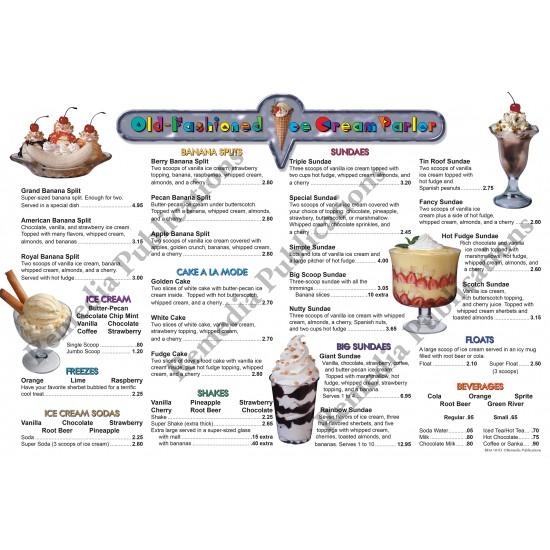 Menu Math: Old-Fashioned Ice Cream Parlor Addition & Subtraction (eBook)