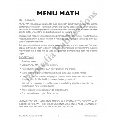 Menu Math: Old-Fashioned Ice Cream Parlor Addition & Subtraction (eBook)