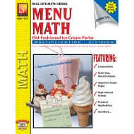 Menu Math: Old-Fashioned Ice Cream Parlor - Multiplication & Division