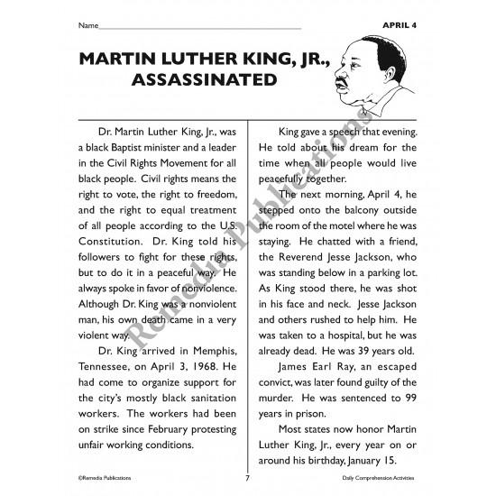 Daily Comprehension: April (eBook)