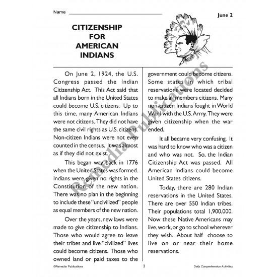 Daily Comprehension: June (eBook)
