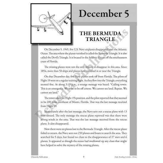 Daily Reading Activities: Winter (eBook)