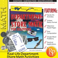 DEPARTMENT STORE MATH- BEGINNERS! 600 Real-life Math Computation & Word Problems