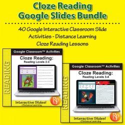 Google Classroom™ Activities: Cloze Reading Comprehension Bundle