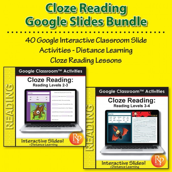 Google Classroom™ Activities: Cloze Reading Comprehension Bundle