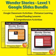 HIGH INTEREST READING BUNDLE Wonder Stories LVL 1 Google Slides