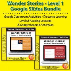 HIGH INTEREST READING BUNDLE Wonder Stories LVL 1 Google Slides