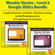 HIGH INTEREST READING BUNDLE Wonder Stories Lvl 2 Google SLIDES