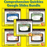 Google Classroom: Comprehension Quickies Bundle (Levels 1-5)