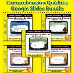 Google Classroom: Comprehension Quickies Bundle (Levels 1-5)