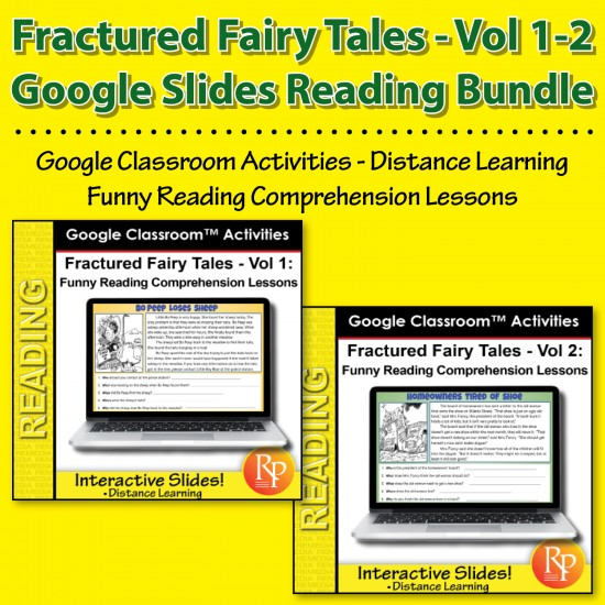 Google Classroom: Fractured Fairy Tales Bundle