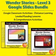HIGH INTEREST READING Wonder Stories Level 3 Bundle