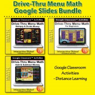Drive Thru Menu Math: BIG BUNDLE 367 Google Classroom Slides & 1,000 Activities