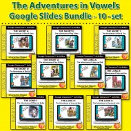 Google Classroom Bundle: The Adventures in Vowels Series (10 set)