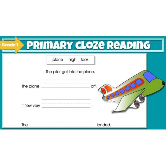 Google Classroom Bundle: Primary Cloze Reading Grades 1-2 (2 set)