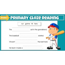 Google Classroom Bundle: Primary Cloze Reading Grades 1-2 (2 set)