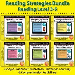 Google Classroom Slides BUNDLE! Specific Reading Strategies & Skills Lvl 3-5