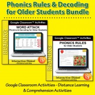 Phonics & Decoding For Older Students: 265 Ready-to-use GOOGLE SLIDES BIG BUNDLE