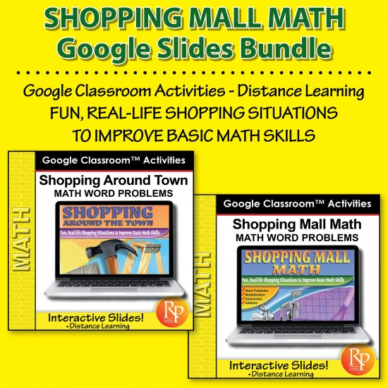 Google Slides Bundle: Shopping Mall Math