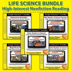 274 Google Slides BUNDLE! HIGH-INTEREST/LOW READING LVL- SUPER SCIENCE STORIES!