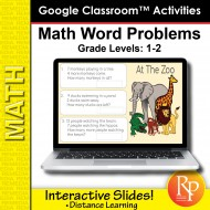 Google Classroom Activities: Math Word Problems Grades 1-2 | Distance Learning