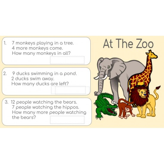 Google Classroom Activities: Math Word Problems Grades 1-2   Distance Learning