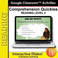 Google Classroom: Comprehension Quickies Reading Level 2 | Distance Learning