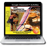 Google Slides - High Interest / Low Vocabulary Reading about HOT SPORTS!
