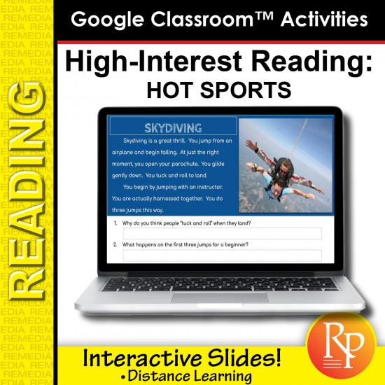 Google Classroom Activities: Hot Sports