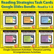 Google Classroom: Reading Strategies Task Cards Bundle (6-book set)