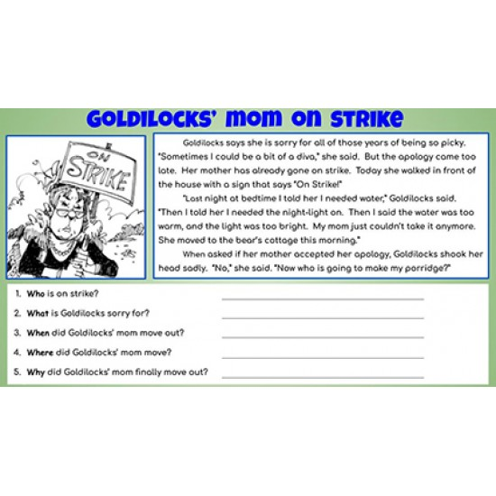 More Fractured Fairy Tales & 5 Ws Questions Reading Comprehension GOOGLE SLIDES