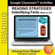 Google Classroom: Finding Facts Reading Strategies Rdg Lvl 3-5 Distance Learning