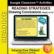 Google Classroom: Draw Conclusions Reading Strategies Lvl 3-5 Distance Learning