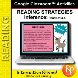 Google Classroom: Inferences Reading Strategies (Rdg LVL 3-5) Distance Learning