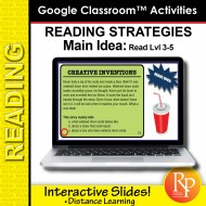 Google Classroom: Main Idea Reading Strategies (Rdg Lvl 3-5) Distance Learning