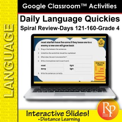 Google Classroom Activities: Daily Language Quickies Gr 4.4