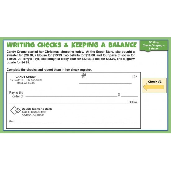 CHECKBOOK MATH: Life Skills GOOGLE SLIDES Activities- Banking & Word Problems
