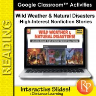 High Interest Reading / Low Vocab WILD WEATHER & NATURAL DISASTERS GOOGLE SLIDES