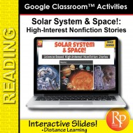 High Interest/Low Vocab SCIENCE-BASED READING- SOLAR SYSTEM & SPACE GOOGLE SLIDE