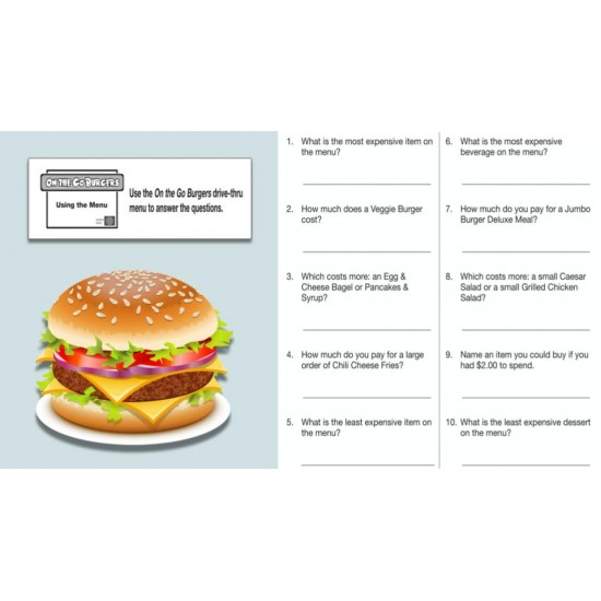 Google Classroom: Drive-Thru Menu Math Bundle - 3 set