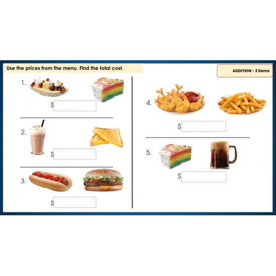 MENU MATH FOR BEGINNERS- 187 GOOGLE SLIDES! Add, Subtract, Multiply, Decimals