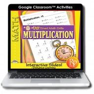 Google Classroom: Easy Timed Math Drills Multiplication