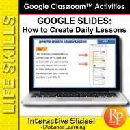 Google Slides - How To Create Daily Lessons