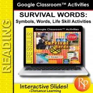 Google Slides: Essential Vocabulary - Survival Words