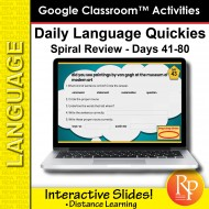 Google Classroom: Daily Language Quickies Gr 3 - Days 41-80