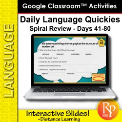 Google Classroom Activities: Daily Language Quickies Gr 3.2 | Distance Learning