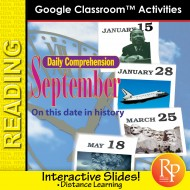 """SEPTEMBER - DAILY READING COMPREHENSION """"This Day in History"""" Google Slide Lessons"""