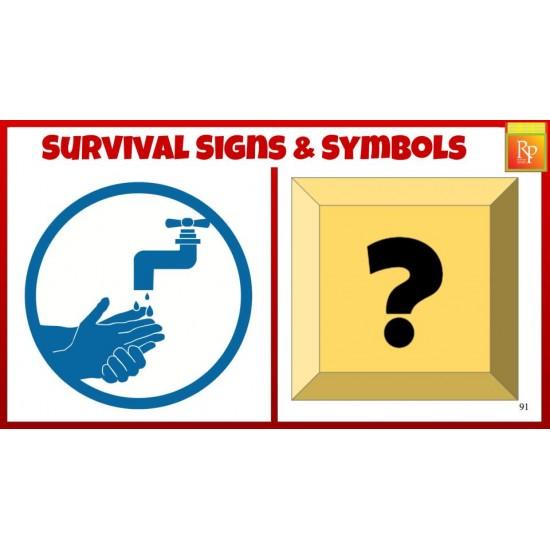 Google Slides: Survival Signs & Symbols Flash Cards