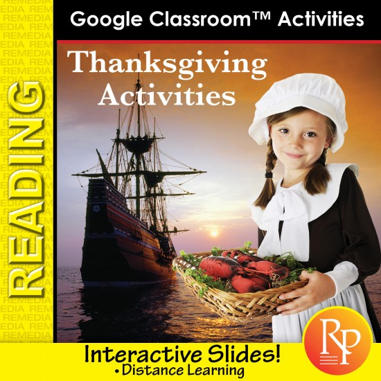 Free Google Slides! Fun THANKSGIVING Activities to improve reading skills